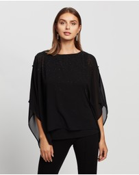 Wallis - Embellished Button Layered Top