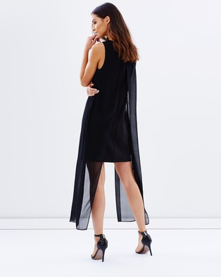 Atmos & Here – Avery Double Layered Dress – Dresses (Black)