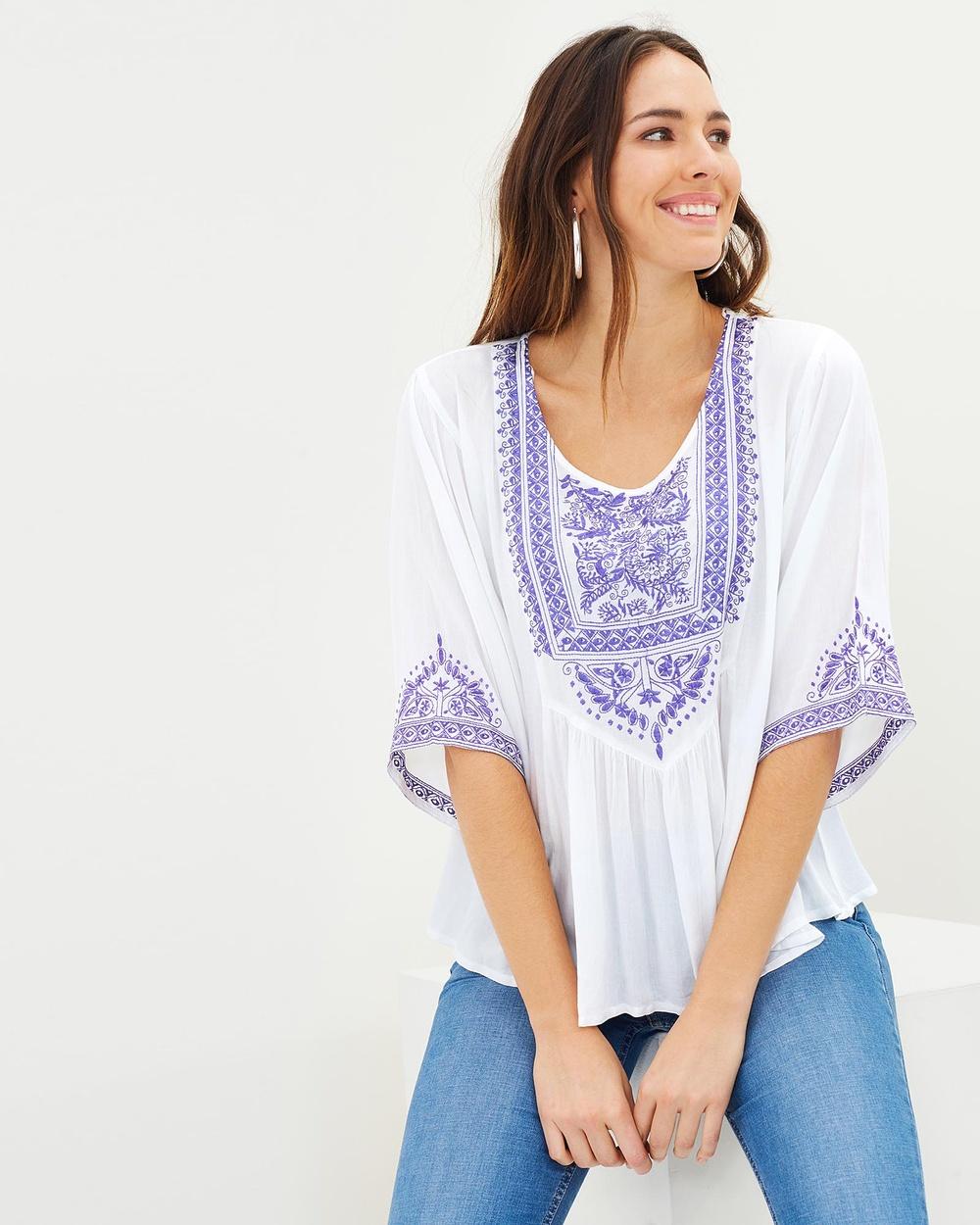 Kaja Clothing Brionna Top Tops Violet Brionna Top