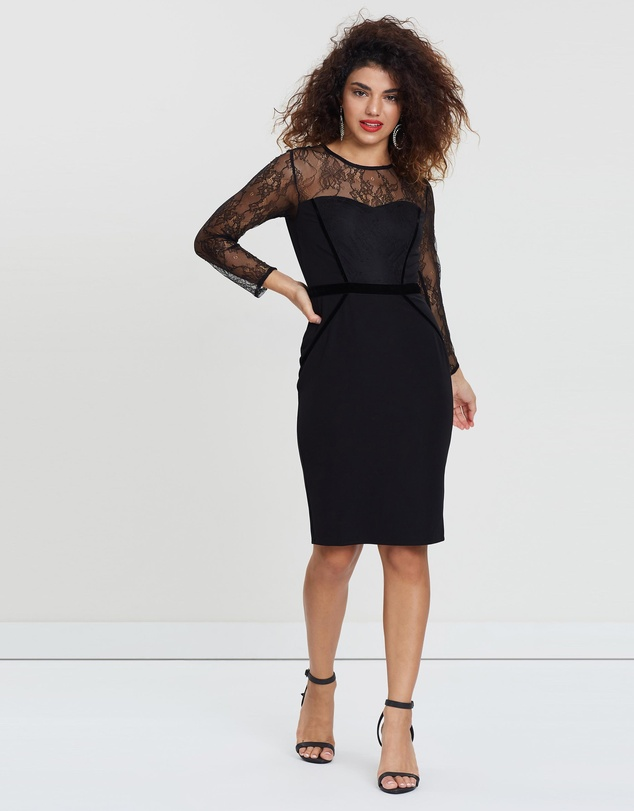 DP Petite - Trim Lace Dress