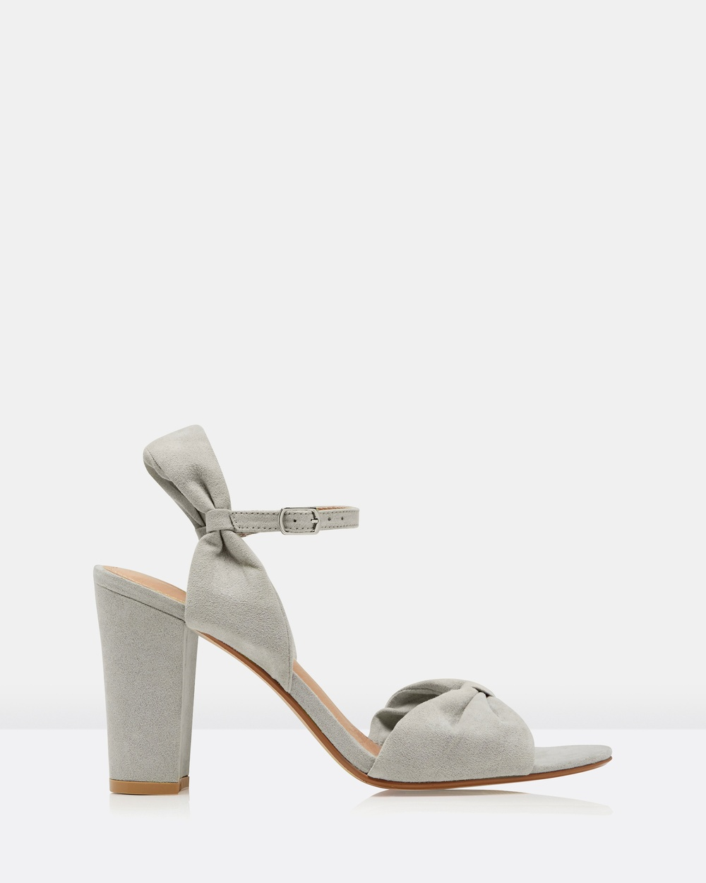 Forever New Sarah Rouch Front Block Heel Sandals Heels Grey Sarah Rouch Front Block Heel Sandals