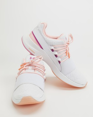 Under Armour Charged Breathe Lace Shoes Women's Performance White, Mellow Orange & Pink