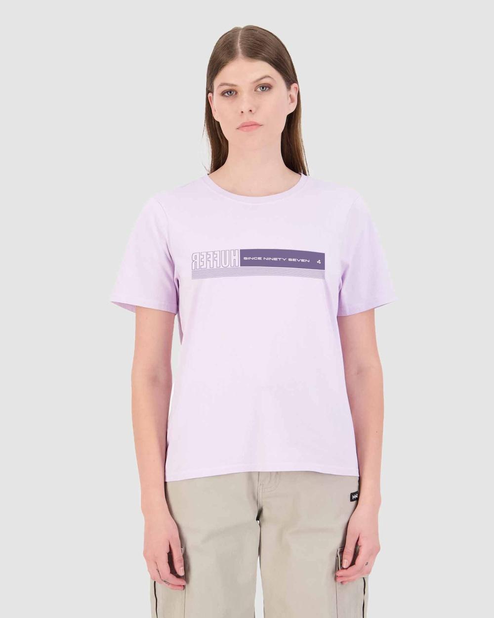Huffer Women's Stella Tee Sidestage T-Shirts & Singlets Purple Tee-Sidestage