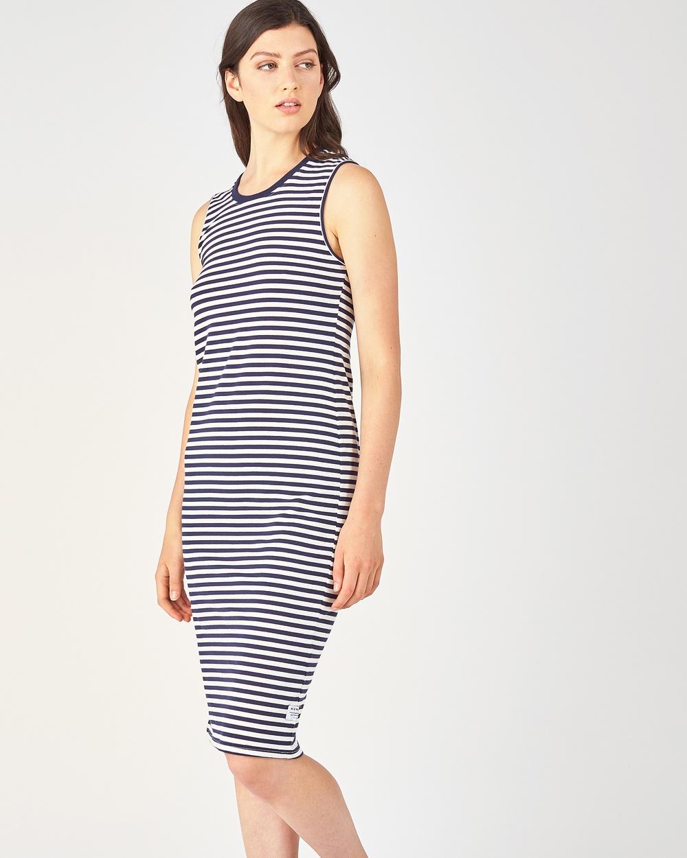 Huffer Stella Dress Dresses NAVY-CREAM Stella Dress