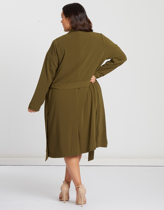 CHANCERY Curve - Hollie Draped Overcoat