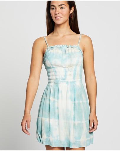 Lenni The Label Crush Shirred Dress Cloud