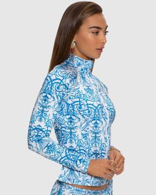 Aqua Blu Australia Olympia Rash Guard - Swimwear (Olympia)