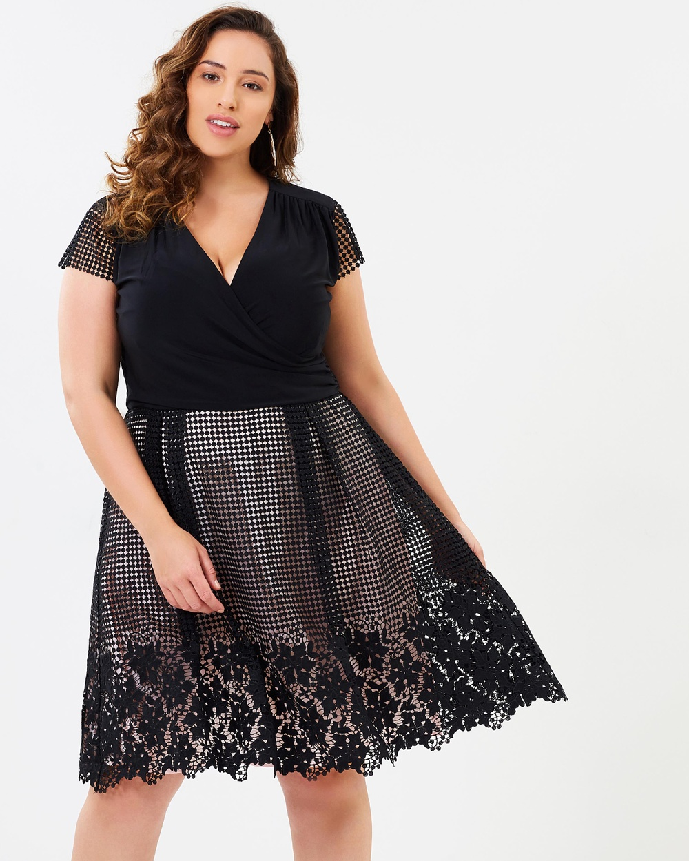 Studio 8 Romola Dress Dresses Black & Ivory Romola Dress