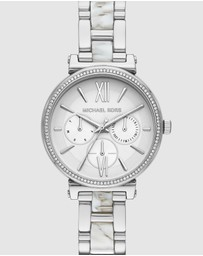 Michael Kors - Sofie Silver-Tone Analogue Watch