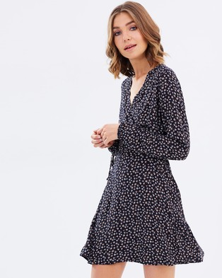 All About Eve – Harpers Wrap Dress – Dresses (Multi)