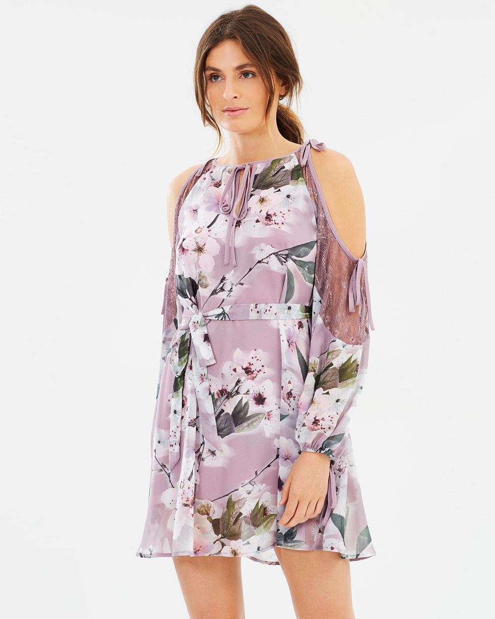 We Are Kindred Holly Cold Shoulder Dress Dresses Musk Cherry Blossom Holly Cold Shoulder Dress