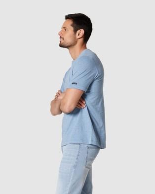 Blazer - Denver Melange Classic Tee Short Sleeve T-Shirts (Blue)