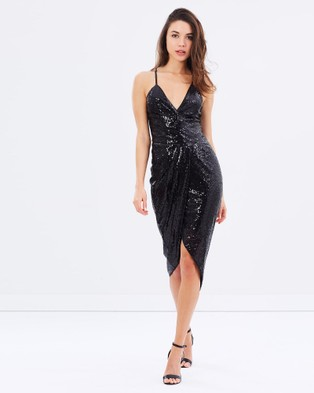 Romance by Honey and Beau – Stella Sequin Dress – Dresses (Black)