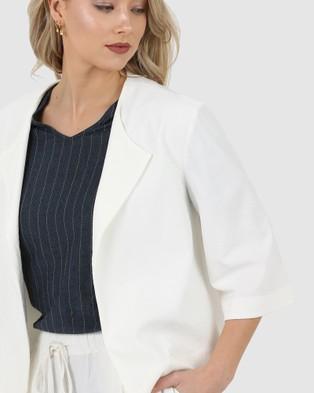 Privilege Assembly Jacket - Coats & Jackets (Cream)