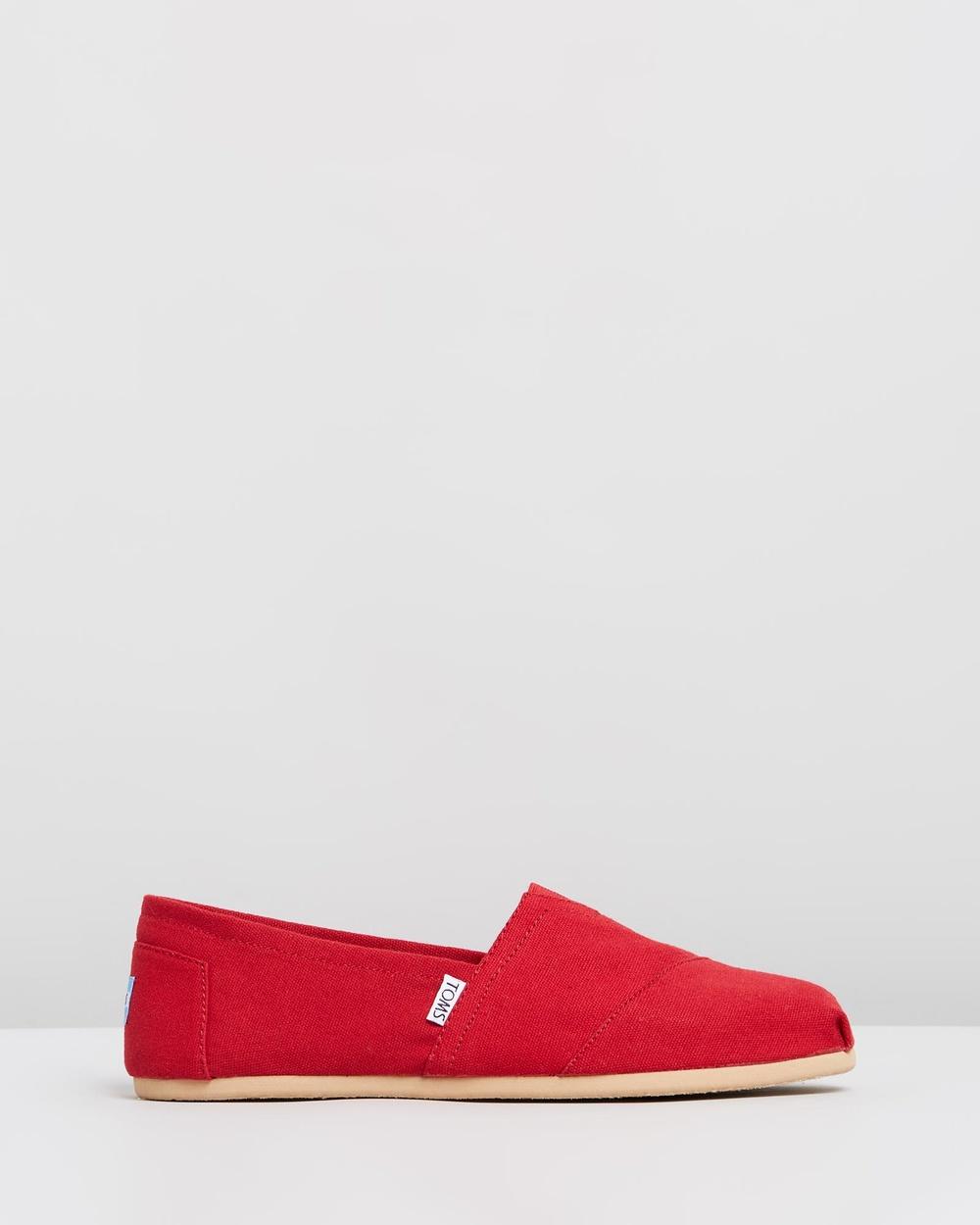 TOMS Canvas Classics Men's Casual Shoes Red Australia