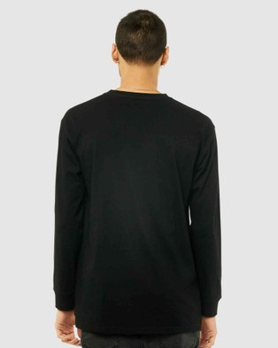 Rusty Short Cut Long Sleeve Tee - Long Sleeve T-Shirts (BLK)