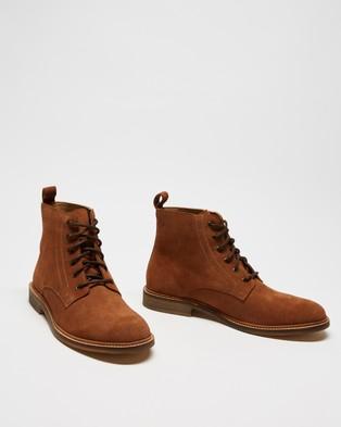 Double Oak Mills - Harry Suede Boots (Chestnut)