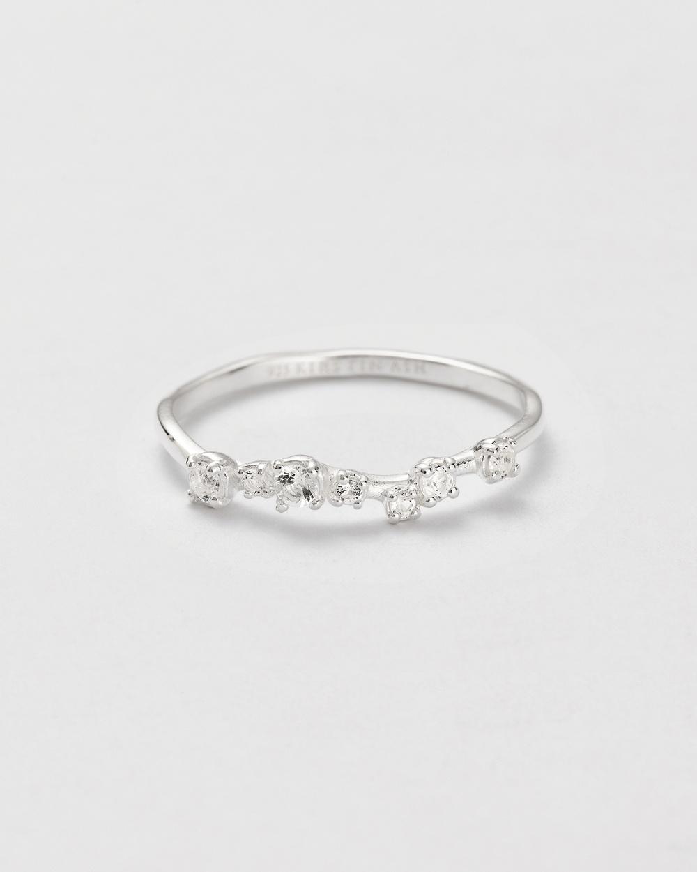 Kirstin Ash Shimmer Topaz Ring Jewellery Silver