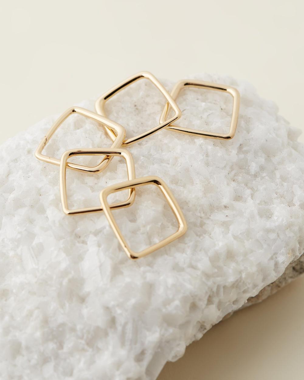 Soko Laini Stacking Rings Jewellery Gold