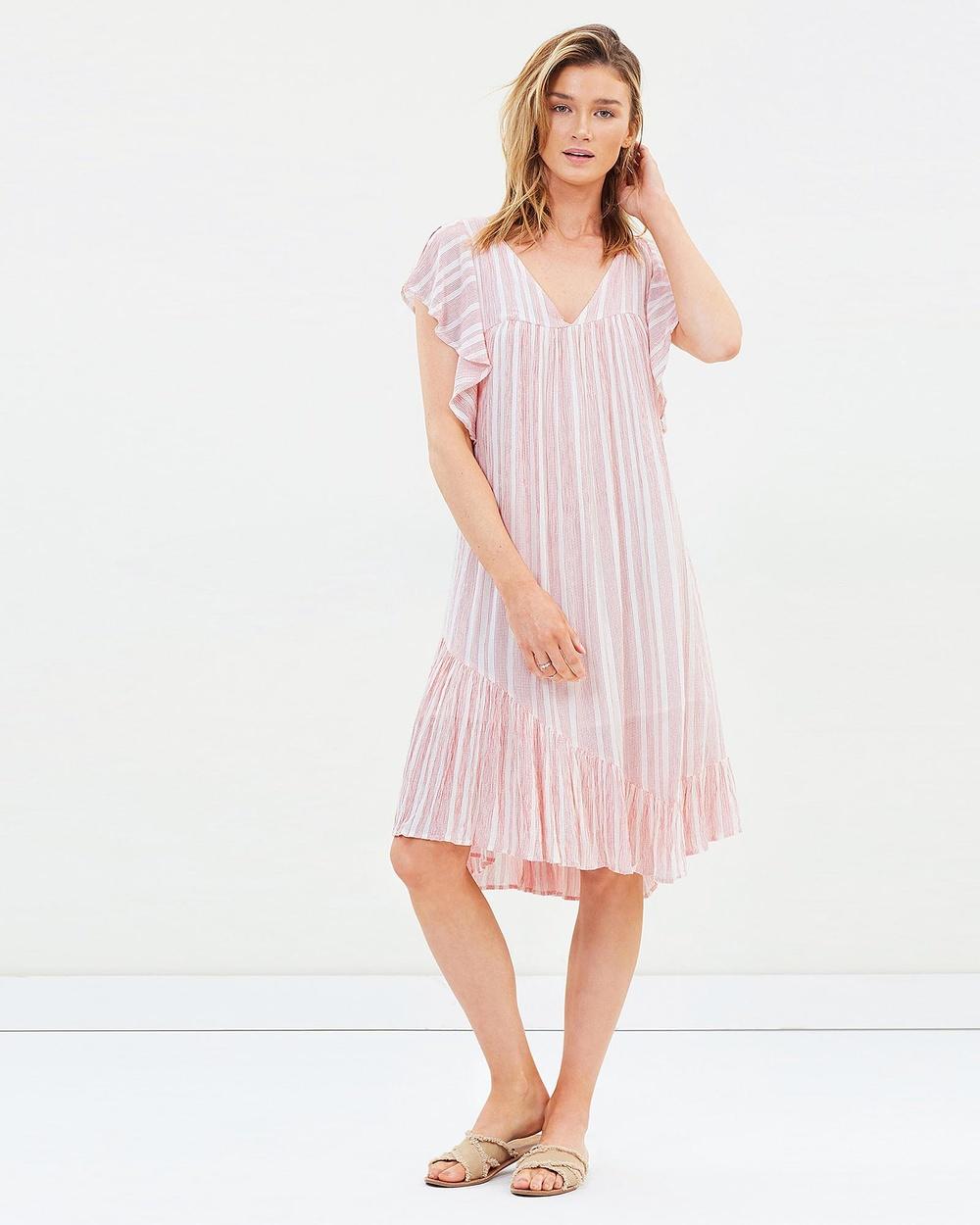 Solito Pink Desert Gypsy Frills Dress