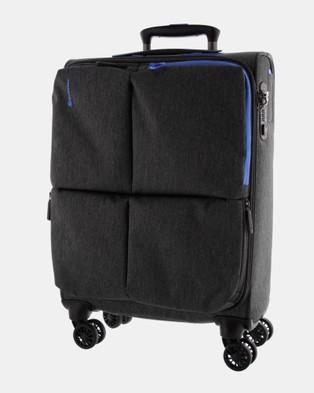 Echolac Japan Serpentine Soft Side 3 Piece Set - Travel and Luggage (Grey Blue)