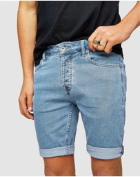 Topman - Bleach Marty Skinny Denim Shorts