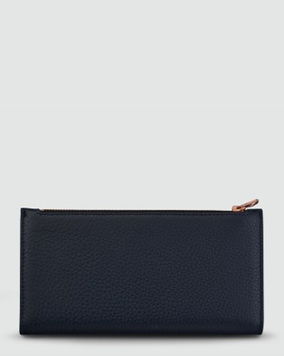 Status Anxiety In The Beginning Bifold Wallet   Navy Blue - Wallets (Navy Blue )