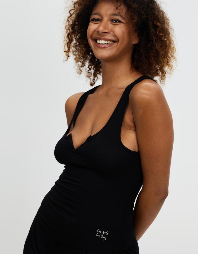 Women Fine Rib Vest