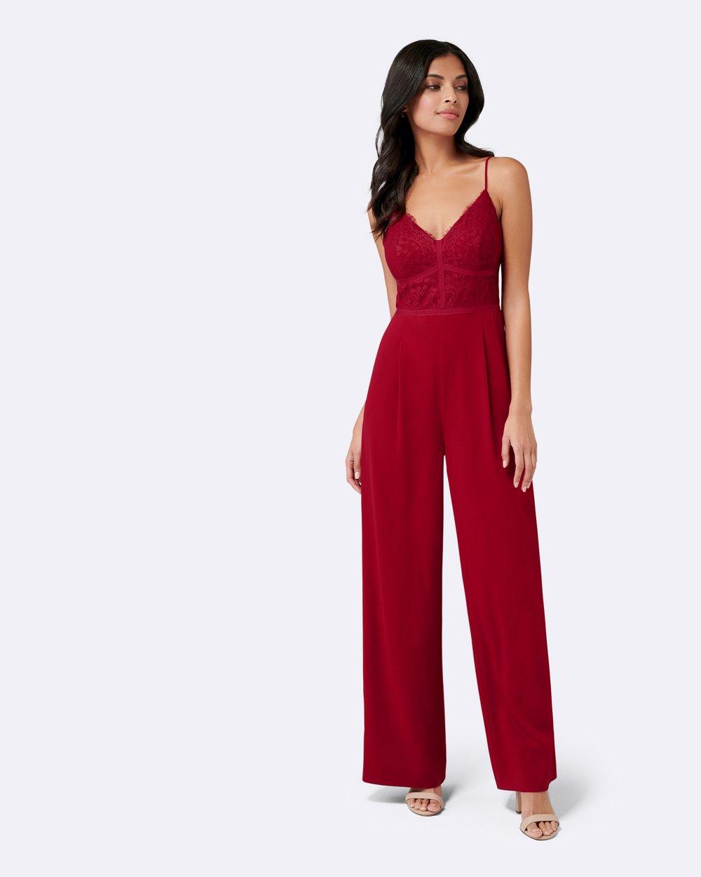 441f0d939ec0 Petite Celine Lace Bodice Jumpsuit by Forever New Petite Online ...