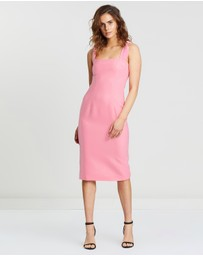 BY JOHNNY. - Knotted Carnation Midi Dress