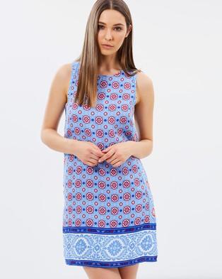 Vero Moda – Ninna Sleeveless Short Dress Blue Bonnet
