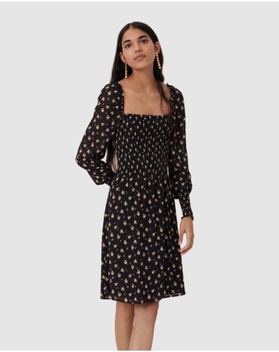 Maje Rithik Dress Blackcamel