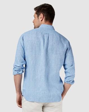 Blazer Alexander Long Sleeve Print Shirt - Shirts & Polos (Blue)