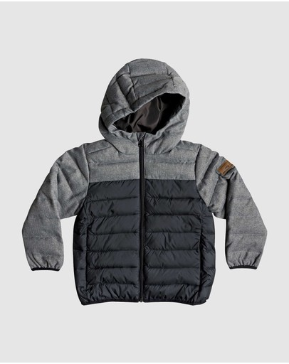 Quiksilver - Boys 2-7 Scaly Hooded Puffer Jacket