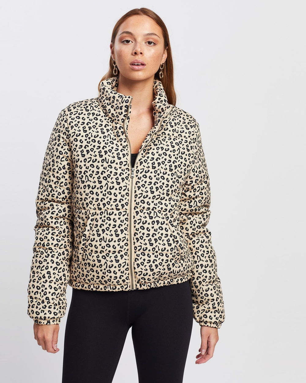 All About Eve Leopard Puffer Jacket and Coats PRINT