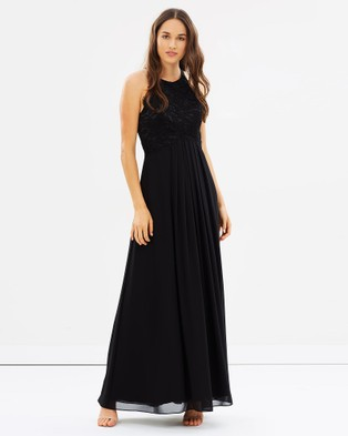 Alabaster The Label – Graced by Lace Dress – Bridesmaid Dresses Black