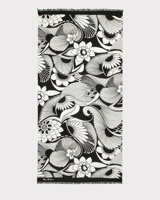 Florence Broadhurst Aubrey Scarf - Scarves & Gloves (Black/White)