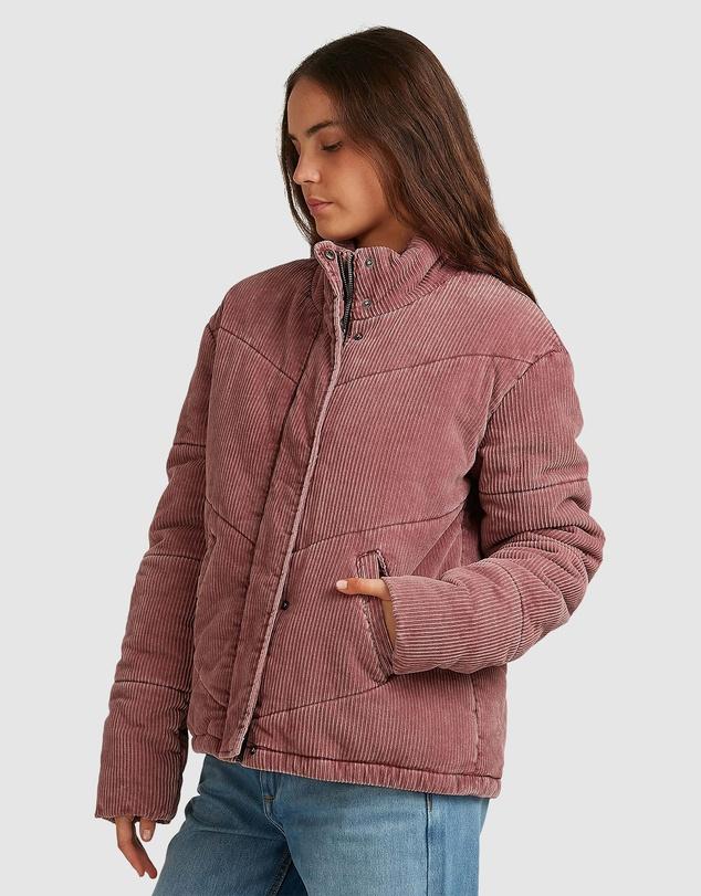 Women Womens Cross The Line Corduroy Puffer Jacket
