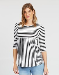 DP Maternity - Stripe Smock Top