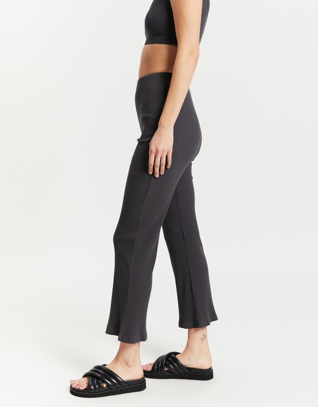 Women Nude Ribbed Lounge Culottes