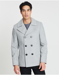 Burton Menswear - Faux Wool Peacoat
