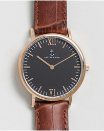 Kapten & Son - Campina 36mm Leather Watch