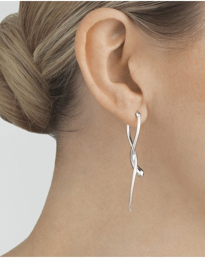 Georg Jensen Mercy Long Earring Sterling Silver