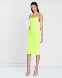 Alex Perry - Gabrielle Stretch Crepe Portrait Lady Dress