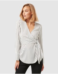 Forever New - Debs Side Tie Stripe Blouse