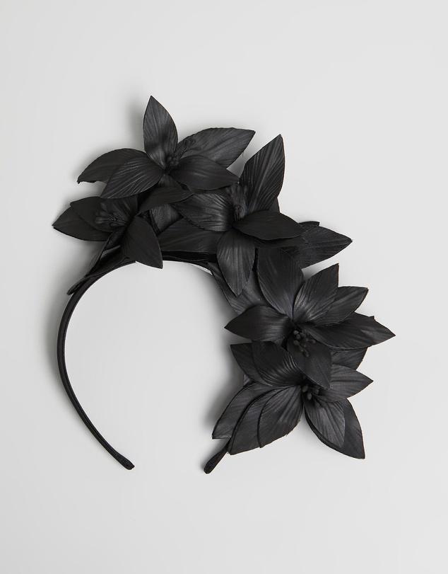 Women Bespoke Leather Flower Headband Fascinator