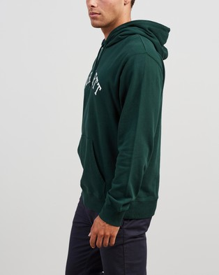 Carhartt Hooded University Sweatshirt - Hoodies (Bottle Green & White)