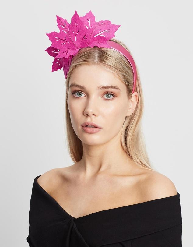 Women Laser Cut Leaf Crown Fascinator