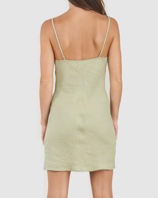 Amelius Grace Linen Mini Dress - All gift sets (Green)