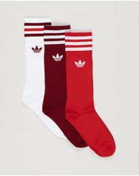 adidas Originals - Solid Crew Socks - 3-Pack